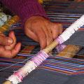Doña Maria beim Weben