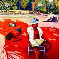 1 ) EL CUBANO (huile sur toile 150x114 )