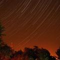 23.05.2012 Sternspuren über dem Lunapark in Leinefelde ...zusammengesetzt aus 300 Aufnahmen je 25 sec. Belichtungszeit...