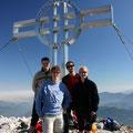 Gipfelfoto: Rene, Gerhard, Roli, Tina