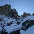 Vergleich der Schneelage im Dezember: 2006