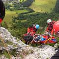 Bergeübung im ÖTK-Klettergarten
