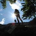 Abseilübung im ÖTK-Klettergarten