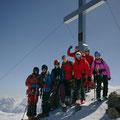 Unsere Gruppe am Gipfel, sonst keine Menschenseele...