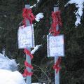 """""""Nette"""" Weihnachtsgrüße vom Wirt des Rifugio Monzoni"""