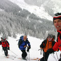 Tief verschneite Winterlandschaft am ersten Tag