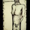 Senza titolo, acrilico e penna su carta, 2013