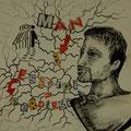 Storia di un cervello altrui- Dono per una nascita, collage, 2012