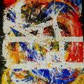 Caso-Caos?, acrilico su tela, 98x82, 2012