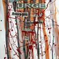 """Teoria del Caos di una """"Poesia di Oro Rosso"""", collage e smalto, 2012"""