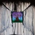 Pioggia Acida, inchiostro e olio su tela, 60x60, 2012