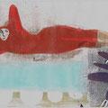 """Rote Frau"", Gelatinedruck, Collage, 2015"