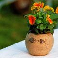 Vase mit Fischdekor von Almut Witt.