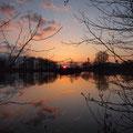 Sonnenuntergang am Baggersee