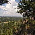 Ausblick in die Hersbrucker Alb vom Himmel