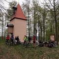 Unsere Fast-Vollmond-Tour führte an der Keilberg-Kapelle vorbei