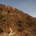 Oberhalb vom Steinernen Gassl liegt der Hohle Fels