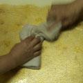 作業10.余分の水分を拭き取る
