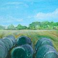 Heuernte in Worpswede, 50 x 30 cm, Öl