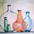 Glas aus Lauscha, 50 x 35 cm, Aquarell