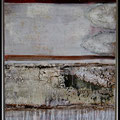 Ohne Titel -rot mit Struktur-  80 x 60 mit Schattenfugenrahmen