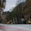 Auch am Löhr-Center herrscht ungewohnte Ruhe, 04.12.11.