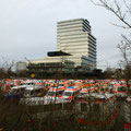 Sammelstelle der Krankentransporte an der Debeka, 04.12.11.