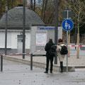 Bis hier hin und nicht weiter: Absperrung in den Koblenzer Rheinanlagen, 04.12.11.