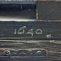 Inscripción en la portada principal indicando el año de su colocación (Imagen: fotomadrid.com)