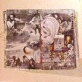 sehr aufwendige Grafik, Innenhülle aus Karton vom AlbumsFleetwood Mac - Tusk (von 1979, Rückseite)