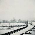 Blick in Richtung Wiecker Kirche, Foto. Karin Grothmann