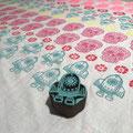 Holzstempel für Textildruck und Papier. Stoffe selber bedrucken