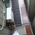 高所に設置された給湯器の取替