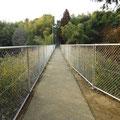 上原町 西中学校区の通学路(通称 へび道)のフェンス柵の更新