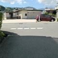 高向 ガーデン 道路にドット線の塗装
