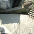 下高向崩れた溝の補修