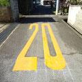 高向 道路に制限速度20Kmの表示
