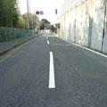 国道170号線 向野高架橋側道の白線の塗り替え