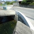 高向 農道入り口付近の河川の氾濫防止工事