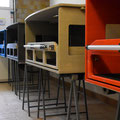 Die TRAVEL-SLEEP-BOX für T5/T6 Multivan, T5/T6 California Beach - Enzianblau, Granitgrau, Seidengrau, Rot