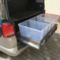 TRAVEL-SLEEP-BOX T5/T6 Multivan, T5/T6 California Beach 600 - Platz für 3x65Liter Verstauboxen
