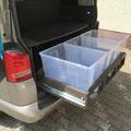 TRAVEL-SLEEP-BOX T5/T6 Multivan, T5/T6 California Beach 600 - Platz für 3x65Liter Verstauboxen