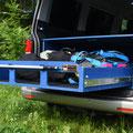 TRAVEL-SLEEP-BOX T5/T6 Multivan, T5/T6 California Beach mit belastbarem Heckauszug / Vollauszug