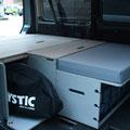 Für den VW T5/T6 Transporter ohne 2er-Sitzbank (Kastenwagen) gibt es ein ergänzendes Zusatzmodul