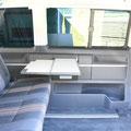 TRAVEL-SLEEP-BOX T5/T6 Multivan, T5/T6 California Beach 600 - mit ausgeklapptem Tisch