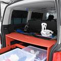der Camping Ausbau als Alternative zum Multiflexboard ist auch für Wintersportarten perfekt geeignet