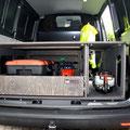 Die TRAVEL-SLEEP-BOX für den VW T5/T6 Transporter mit belastbarem Heckauszug / Vollauszug auch für Handwerker bestens geeignet