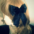 Black Lolita Bow