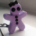 Pastel Goth Gingerbread Girl necklace