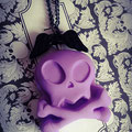 Purple Alien Skull Necklace